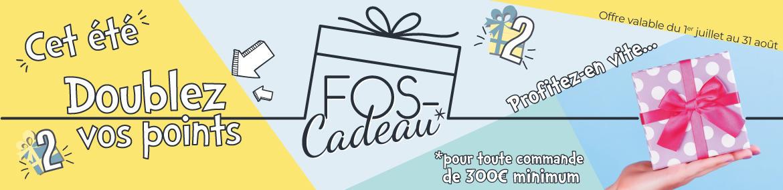 Bandeau doublement des points FOS Cadeau Juillet Août 2019 - BE