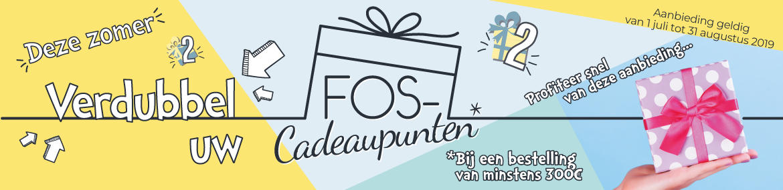 Bandeau doublement des points FOS cadeaux Juillet Août 2019 - NL
