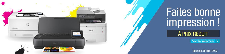 Sélection imprimantes télétravail