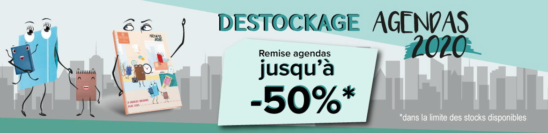BANDEAU DESTOCKAGE AGENDAS 2020  - LU